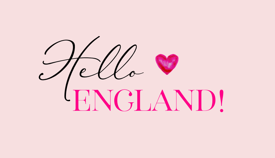 Hello from England!